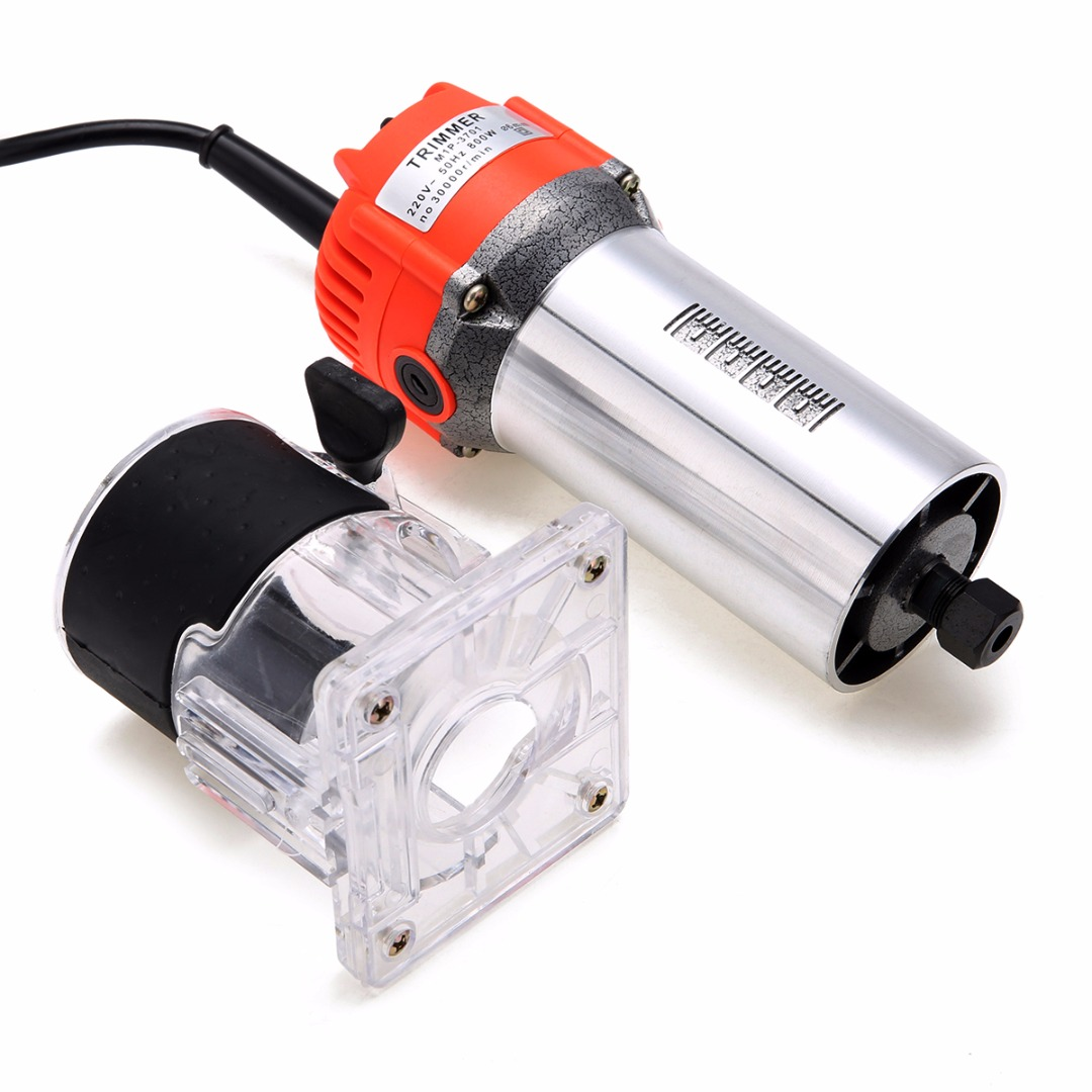 1Set 800W 220V Electric Hand Trimmer Wood Laminate Palm Router Joiner Tool 30000RPM 6.35mm Collet Diameter