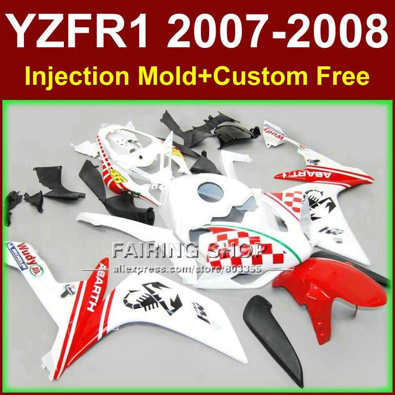 ᐂAlta calidad carrocería para Yamaha YZFR1 2007 2008 R1 carenado ...
