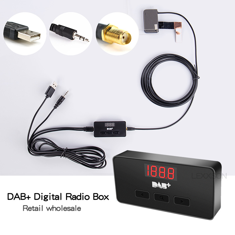 DAB Box Only Europe 2Din Auto <font><b>Usb</b></font> Dab Car Radio <font><b>Antenna</b></font> For Universal Car Radio Tuner Receiver Dab+ <font><b>Usb</b></font> Cable Digital Audio image