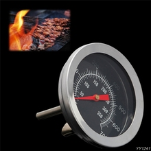 BBQ Accessories Grill Meat Thermometer Dial Temperature Gauge Gage Cooking Food Probe Household Kitchen Tools Stainless steel