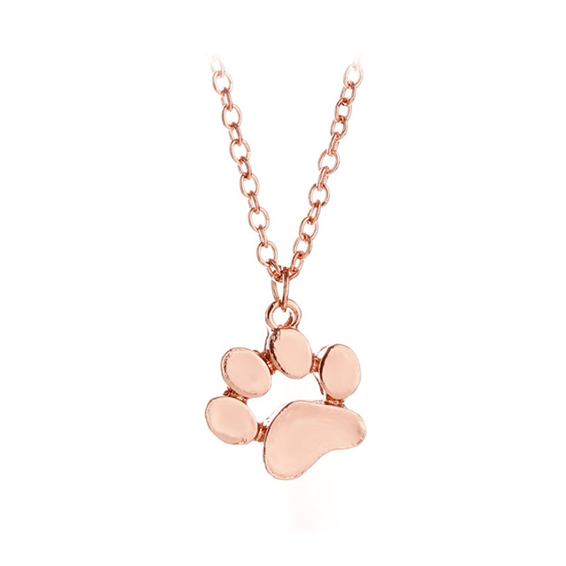 Cat Paw Shaped Pendant Necklaces