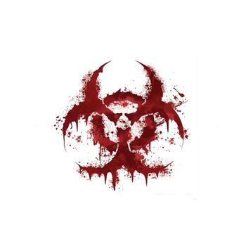 HotMeiNi WHITE BLOODY BIOHAZARD V2 Bloody Personality Funny Car Sticker Reflective Car Accessories Motorcycle Parts 11CM*11CM yjzt 12cm 10 7cm danger biohazard sign warning mark personality car sticker reflective motorcycle parts c1 7558
