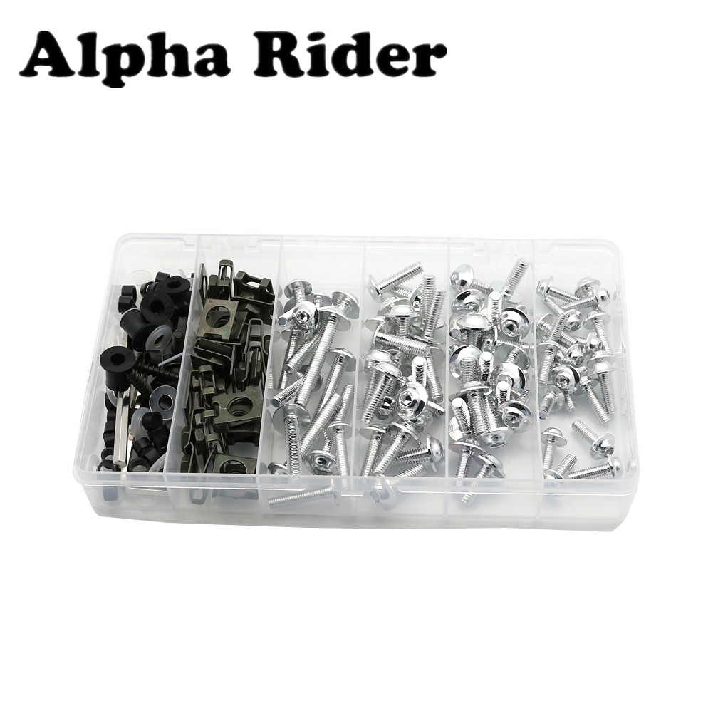 Fairing Bodywork Bolts Kit Fastener Clips Screws for Kawasaki ZZR400 93-07 ER6N 09-11 ZX6R 636 02-13 ZX10R 04-13 NINJA EX300 13