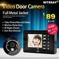 Digital porta peephole visualizador de câmera com motion apoio sensor de tomada da foto, gravação de vídeo, porta bell & forte ri infravermelho