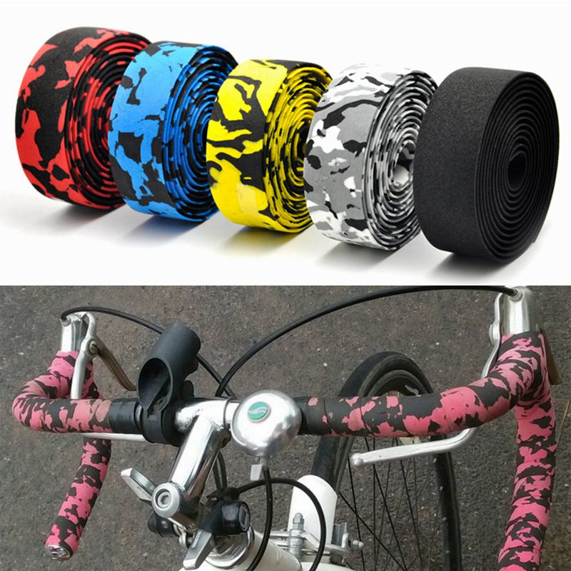 Bicycle Handlebar Tape Colorful Racing Drop Bar Tape High Quality Cycling Road Bike Bar Tape Sports Fixed Gear With 2 Bar Plug