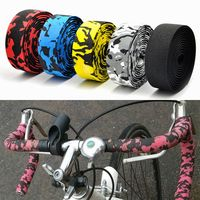Bicycle Handlebar Tape Colorful Racing Drop Bar Tape High Quality Cycling Road Bike Bar Tape Sports Fixed Gear with 2 Bar Plug|Handlebar Tape| |  -