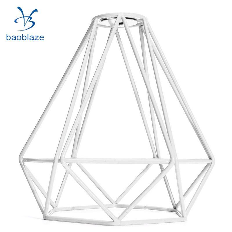 2 Pack Retro Wire Diamond Pendant Lounge Ceiling Light