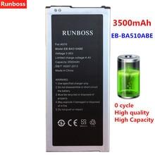Runboss Original Battery EB-BA510ABE For Samsung Galaxy A5 2016 Edition A510F A5100 SM-A510F A5 A51 Battery 3500mAh чехол для samsung galaxy a5 2016 sm a510f skinbox lux черный