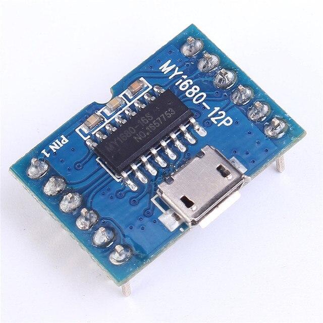 MY1680 MP3 Voix Module SMC Série Musique Puce de Contrôle Du Conseil D'administration Pour USB Télécharger Flash De Stockage De Musique Jouer