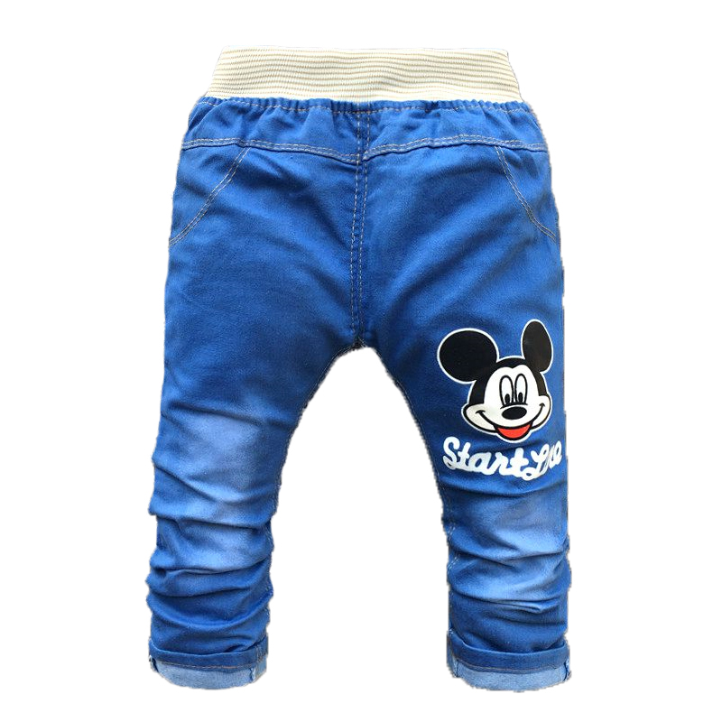 Baby Pants Summer Baby Boy Clothes Cartoon Kids Clothing Infant Girls Trousers Fashion Spring Baby Jeans for 2-4 Years Old