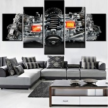 5 Pieces HD Print Painting WRX Engine Canvas Wall Art Picture Home Decoration Living Room Decor