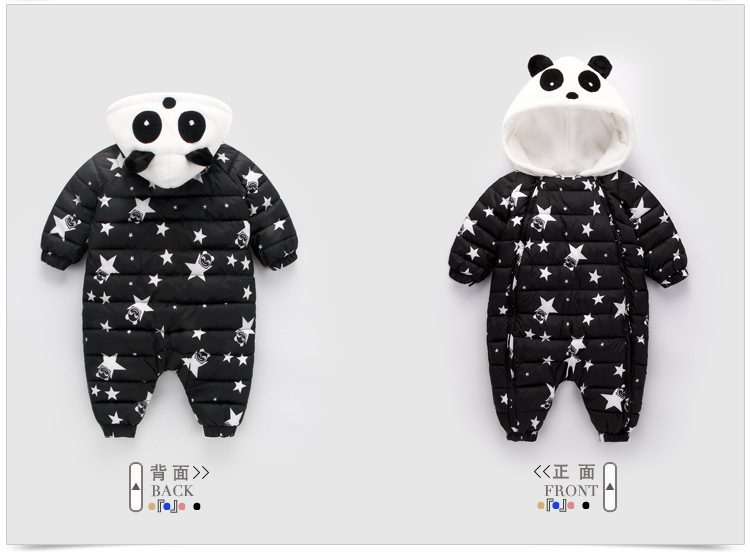 Winter new childrens clothing to climb infant coveralls and velvet padded newborn baby jumpers childrens cotton clothes
