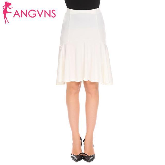 ANGVNS Women Pleated Skirt Ruffles Sexy Solid Irregular High Low Hem High Waist Short skirts Umbrella Skirt 6
