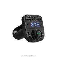 Car Bluetooth Charger Handsfree Car Kit FM Transmitter QC3.0 Car Accessories Dual USB For saab 9 3 9 5 93 95 900 9000 5V 4.1A