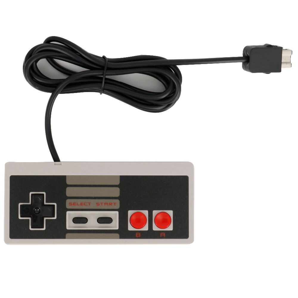 10PC/LOT Wired Retro Gaming Controller For NES Classic Edition For Mini NES Console Gamepad JoyStick For Nintend System For Wii