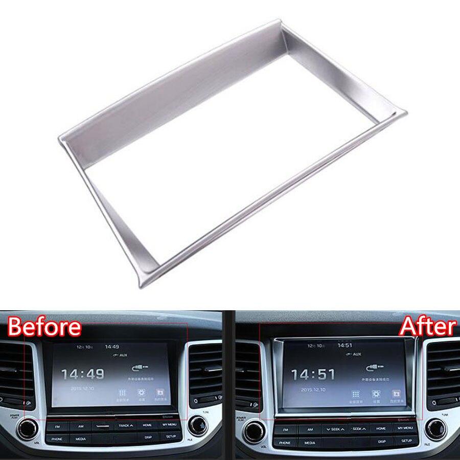 Yaquicka Car Front Console Gps Navigation Decorative Frame