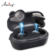 Aminy F8 Wireless Earphones Bluetooth 5.0 Stereo Hi-Fi Sound iPX6 Waterproof Handsfree  Earphone