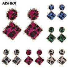 2019 New Vintage Sexy Indian Bohemian BOHO Korean Kpop Geometric Leopard Eardrop Statement Dangle Earrings for Women