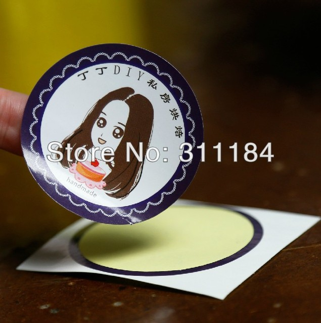 Custom stickers printing die cut adhesive label paper sticker glossy lamination
