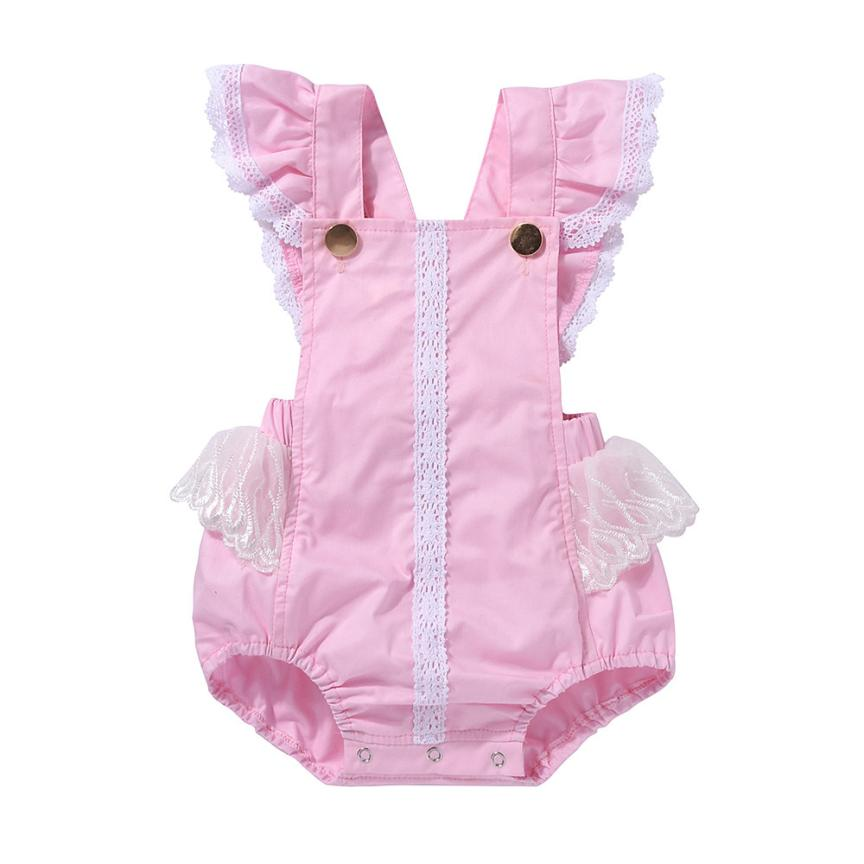 Newborn Infant Kids Baby Girls Outfits Clothes Princess Newborn Infant Baby Girl Lace Ruffles Romper Jumpsuit Sunsuit Outfits emmababy summer newborn infant baby girl ruffles sleeveless romper flamingo jumpsuit sunsuit clothes outfits baby clothing