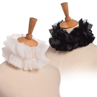 1pc Victorian Ruffled White Collar Adjustable Unisex Party Cosplay Accessory Neck Ruff