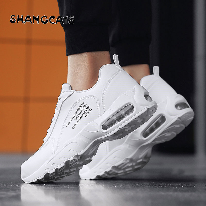 все цены на Men Sneakers 2018 winter Shoes White Black Man Casual Shoes zapatos hombre Fashion Mens Shoes Tenis Masculino Adulto cir cushion
