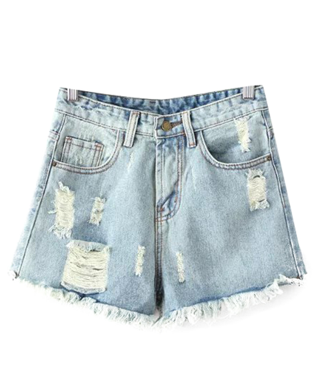 Popular Distressed Denim Shorts Women-Buy Cheap Distressed Denim ...