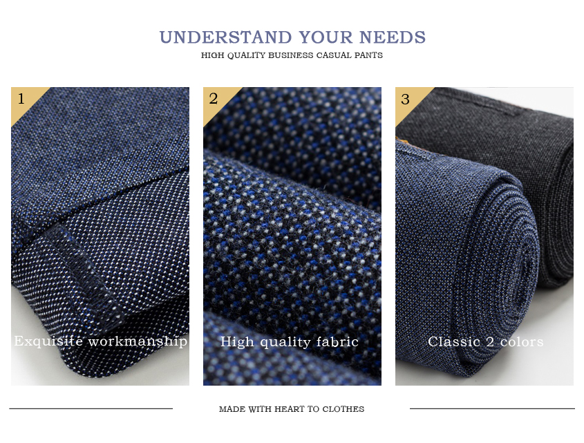 2019 Autumn Winter New Men's Slim Casual Pants Fashion Business Stretch Thicken Trousers Male Brand Plaid Pant Black Blue
