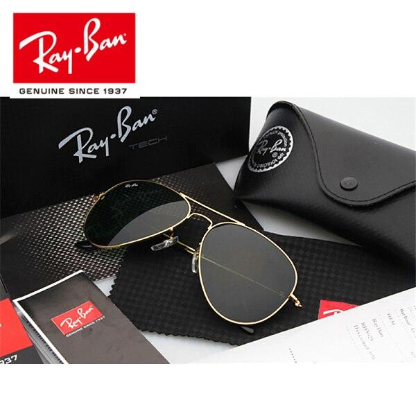 2018 RayBan RB3025 All'aperto Glassess RayBan Occhiali Da Sole Per Gli Uomini/Donne Retro Occhiali Da Sole Ray Ban Da Trekking Occhiali 3025 Scatto Occhiali Da Sole Occhiali