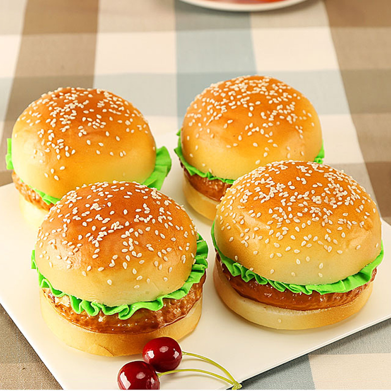 High Artificial  Hamburger Simulation Model Ornaments Fake Cake Bakery Room Photography Props Christmas Window Decoration