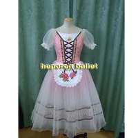 High Quality Classic Customized Coppelia Soft Ballet Dress With Apron Giselle Blue Or Pink Gradient Color