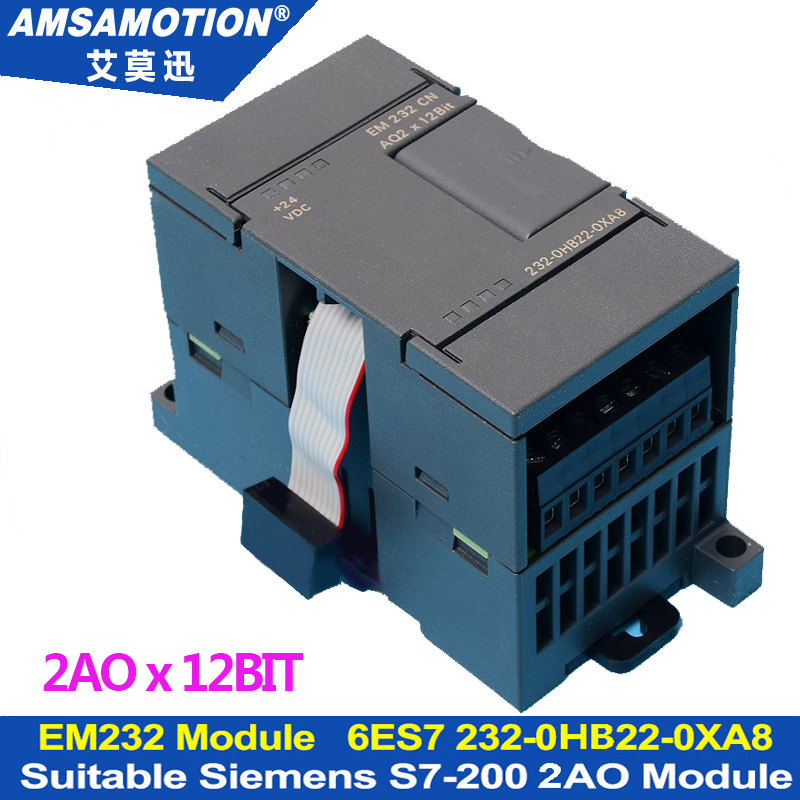 EM232 2AO Extension Module Apply to Siemens S7-200 PLC 2Output Analog Module 6ES7 232-0HB22-0XA8 цена