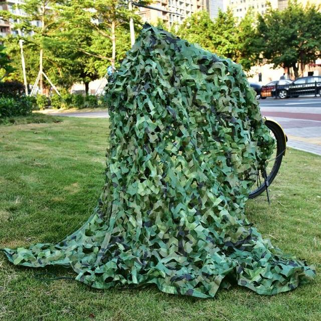 Camping Camo Net 2X3M 3X5M 1.5X5M 1.5X7M Army Woodland Jungle Camouflage Net Hunting Shooting Fishing Shelter Hide Netting