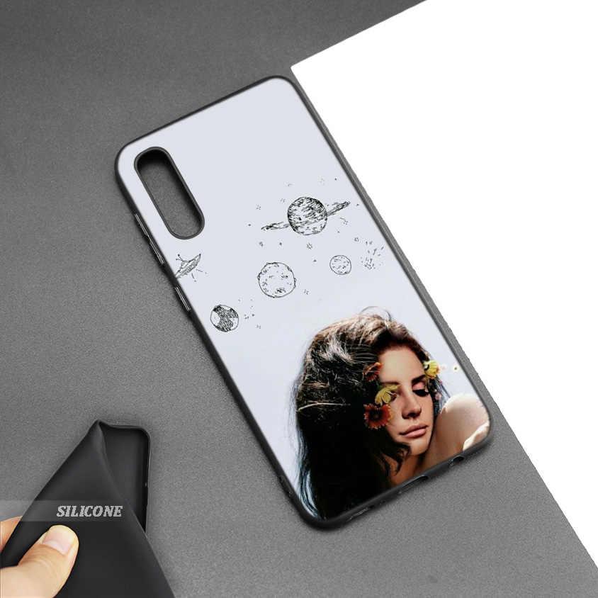 El negro de silicona bolsa caso para cubrir Samsung Galaxy M10 M20 M30 S8 S9 S10 S10e 5G J3 J4 J5 j8 Plus 2018 S7 Edge Lana Del Rey