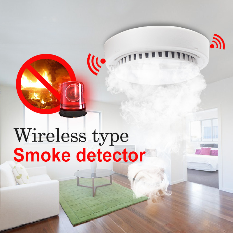 Smart Wireless Smoke Detector High Sensitive Fire Alarm Sensor Monitor Tester For Home Security System LED Wifi Smoke Detector free shipping wireless smoke detector fire alarm sensor work with g90b plug wifi smart home alarm system