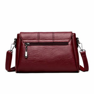 Image 3 - Women Messenger Bags ladies Crossbody Bags For Girls  Pu Leather Handbags Designer Women Shoulder Bags High Quality Solid