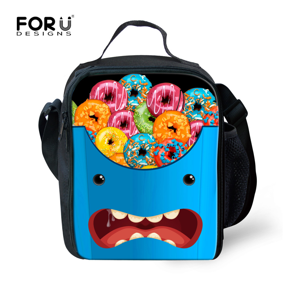 2016 New Fashion Portable Insulated Lunch Bag Thermal Food Picnic Lunch Bags for Women Kids Men Monster Lunch Tote