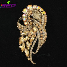 Zinc Alloy Rhinestone Crystals Brooch Broach Pin Women Brooches Jewelry Accessories 3 5 Gifts 4243