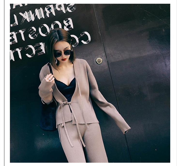 M&B high quality cardigan sweater coat loose long baggy pants ...