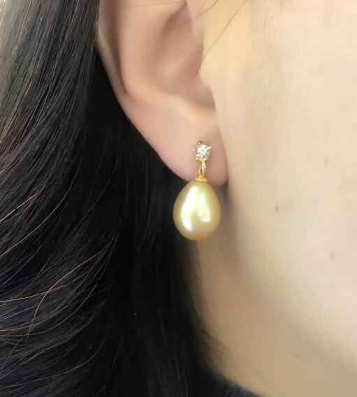 >>>>noble jewelry 925 silver 9-10 MM natural SouthSea akoya Pearls earrings