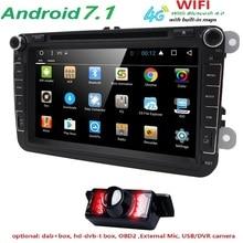 Android 7.1 7″ 2din Car DVD for VW POLO GOLF 5 6 POLO PASSAT B6 CC JETTA TIGUAN TOURAN EOS SHARAN SCIROCCO CADDY with 4GGPS Navi