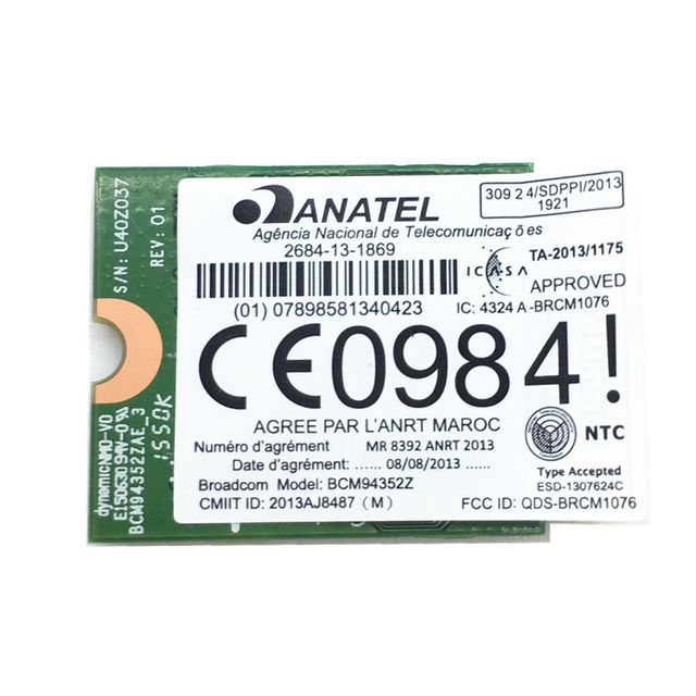 US $30 99 |New For Hackintosh BCM94352Z 802 11a/b/g/n/ac WLAN + Bluetooth  4 0 M 2/NGFF Mini Card 867Mbps DW1560 06XRYC-in Network Cards from Computer
