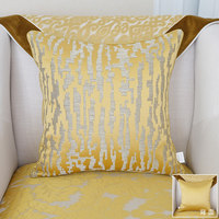 Avigers Luxury Gold Cushion Cover Silky Cotton High Quality Pillowcase Modern Pillow Cover Home Decorative Sofa