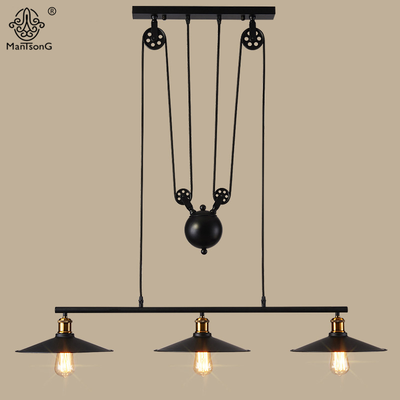 Pendant Lamp 3 Heads Industrial Iron Vintage Rural Creative Loft Light For Decor Cafe Restaurant Living Room Interior Lighting edison inustrial loft vintage amber glass basin pendant lights lamp for cafe bar hall bedroom club dining room droplight decor