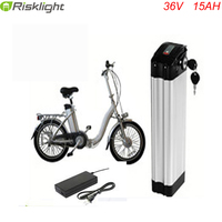 Electric Bike 36V 15Ah li ion battery use Samsung cells 36V 15Ah Electric Bicycle Silver Fish Battery+Charger