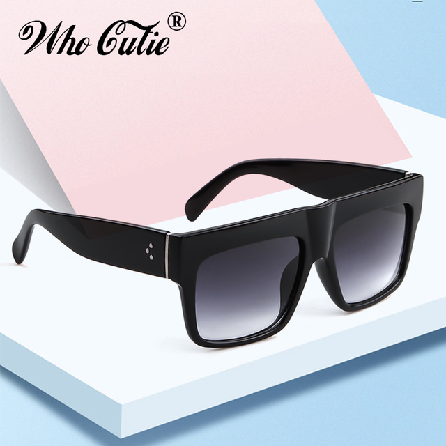 89ca1436e2 2019 Vintage Flat Top Sunglasses Women Brand Designer Square Rivet Frame  Kim Kardashian Fashion Sun Glasses Black Shades OM140B