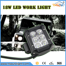 1pc 4 inch 18W CREE Chip LED Work Light Flood Spot Light Offroad Driving LED Light Bar 12V 24V 4×4 Truck Motorcycle Boat Tractor