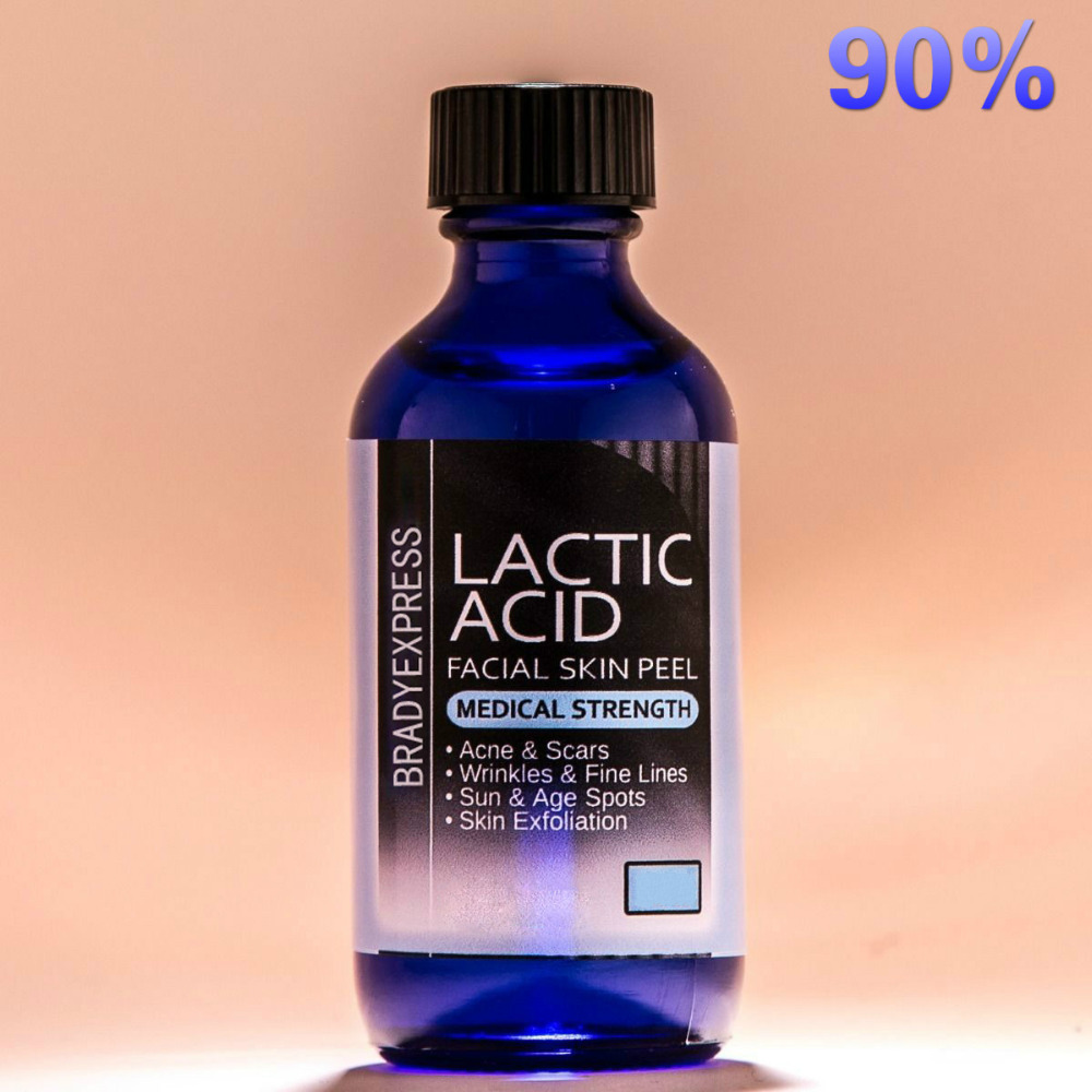 Best Quality LACTIC Acid Skin Peel 90% For Acne, Wrinkles, Melasma, Collagen Stimulation Free Shipping
