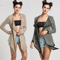 Fashion Women Spring Autumn Cardigan Knitted Casual Irregular Collar Long Sleeve Jackets Cape Poncho Sweater 63