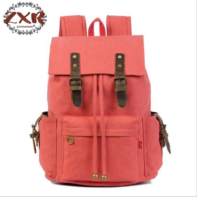 Trendy New Canvas Bacpack Men And Women Designer Casual Schoolbag Students Travelling Laptop Bag Fashion Canvas Cowhide Bag canvas splicing backpack men retro trendy casual laptop bag women durable casual school bag stylish schoolbag